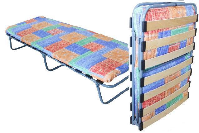 Кровать раскладушка с матрасом на ламелях БК-2Л цена от 1785руб